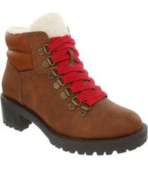 sugar women's marisol fuzzy lug sole hiker boots women's shoes
