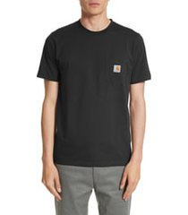 men's carhartt work in progress logo pocket t-shirt, size large - black