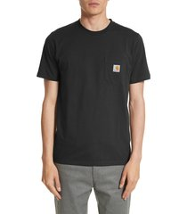men's carhartt work in progress logo pocket t-shirt, size x-large - blue