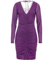 abito con applicazioni glitterate (viola) - bodyflirt boutique