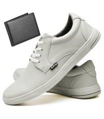 tênis sapatênis casual fashion com carteira masculino dubuy 1401el areia
