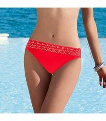 lise charmel badmode ajourage couture bikini slip rood aba0415