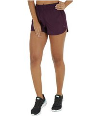 shorts oxer rum basic - feminino - roxo escuro