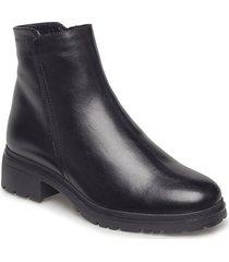 warm lamb fur lining c-4829-m shoes boots ankle boots ankle boots flat heel svart wonders