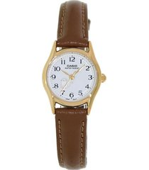 reloj casio ltp_1094q_7b8r marrón cuero