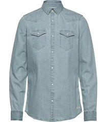 ams blauw denim western shirt in seasonal washes overhemd casual blauw scotch & soda