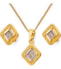 conjunto lady oro laminado dorado vanité