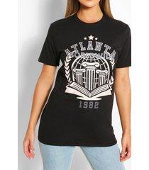 atlanta collegiate t-shirt, black