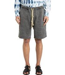 nanushka linen denim shorts