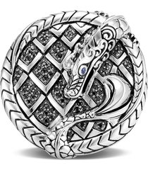 'legends naga' sapphire spinel sterling silver ring