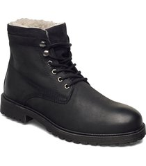 biadaren warm boot snörade stövlar svart bianco