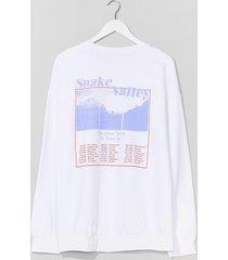 womens snake valley plus graphic sweatshirt - white