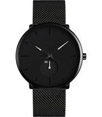 reloj de pulsera de acero inoxidable impermeable simple de moda para hombre