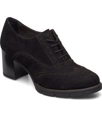 woms lace-up shoes boots ankle boots ankle boot - heel svart tamaris