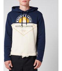 lanvin men's maison lanvin logo hoodie - navy - m