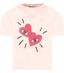 sonia rykiel pink t-shirt for girl with hearts