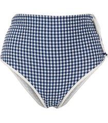 la perla gingham seersucker bikini bottoms - blue