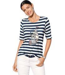 shirt amy vermont marine::offwhite
