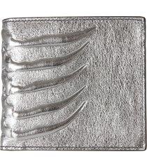 alexander mcqueen textured billfold wallet