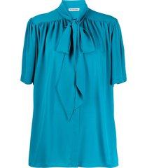 balenciaga scarfed front detail blouse
