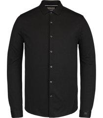 cast iron csi211208 999 long sleeve shirt jersey pique oxford black