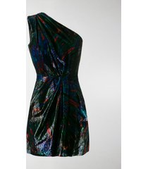 dsquared2 tie-dye one-shoulder dress