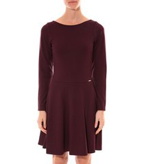 korte jurk coquelicot robe col v bordeaux 16201