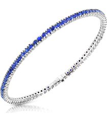 forzieri designer bracelets, blue sapphire 18k gold tennis bracelet