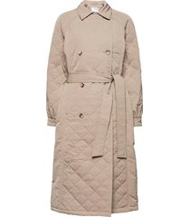 slfninna quilted trenchcoat trench coat rock brun selected femme