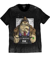 camiseta di nuevo donkey kong dk preso preta masculina reta