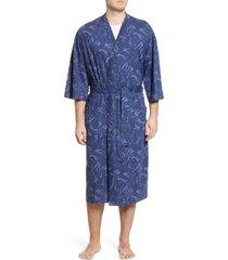 men's majestic international botanical robe, size one size - green