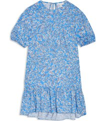 petite women's topshop floral print poplin shift dress