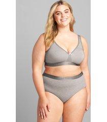 lane bryant women's cotton unlined no-wire bra 54b summer grey