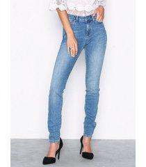 selected femme slfida mw skinny mid blue jeans w jeans