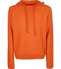 lanvin orange silk-wool-cashmere blend sweatshirt