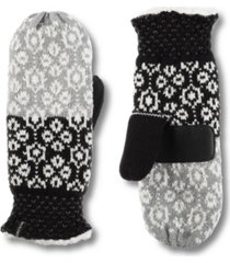 women's snowflake knit mittens gloves