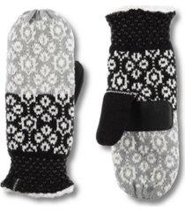 women's snowflake knit mittens gloves