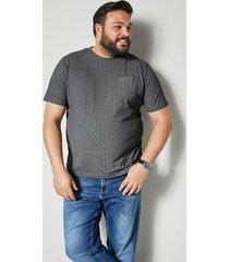 t-shirt men plus svart::grå
