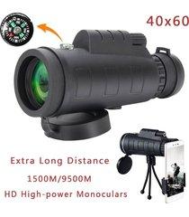telescopio monocular hd 40x60 aopet telescopio de-negro