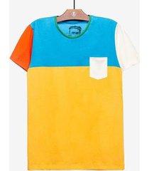 camiseta colorblock - masculina - masculino