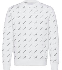 aop monogram crew neck sweat-shirt trui wit calvin klein jeans
