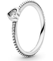 anel de prata eterno coração