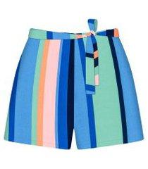 lez a lez - shorts cintura média cinto estampa falesia