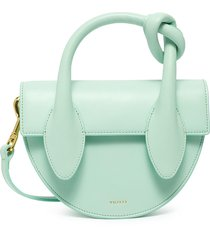 'dolores' top handle knot detail leather crossbody bag