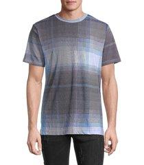 robert graham men's check t-shirt - blue - size xl