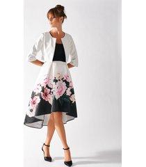 rinascimento vestito asimmetrico stampato a fiori