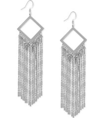 guess bead chain linear earrings
