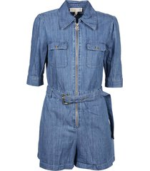 michael kors chambray zip romper