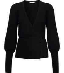 2nd haywood gebreide trui cardigan zwart 2ndday