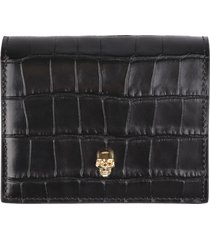 alexander mcqueen skull micro leather wallet